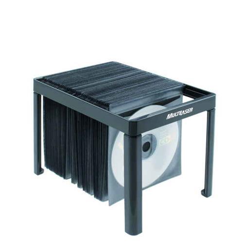 Porta Cd E Dvd Preto Para 60 Unidades Multilaser