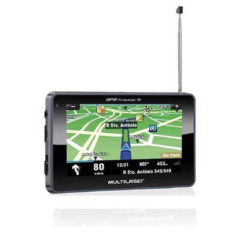 GPS Multilaser 4.3 Polegadas Touchscreen c / TV + FM - GP034