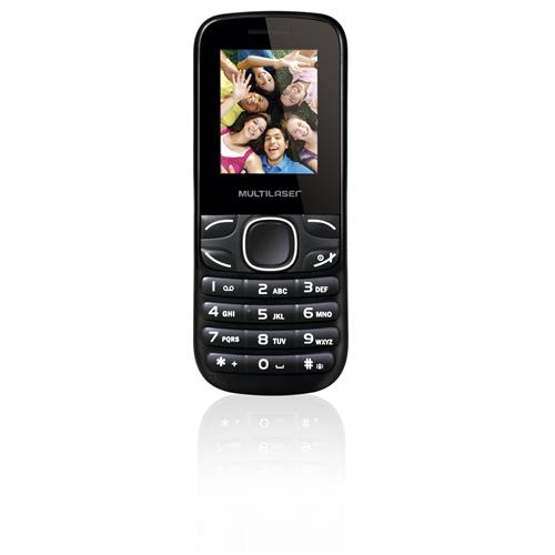 Celular Multilaser MAX II - 4 Chips, Cam, WAP, MP3, Rádio FM e Bluetooth Preto - P3297