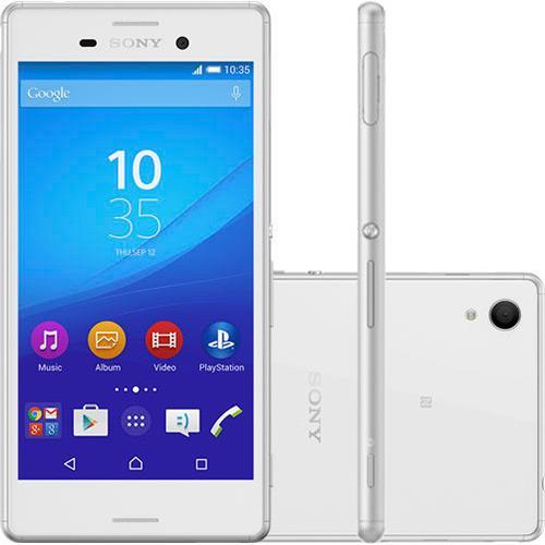Smartphone Sony Xperia M4 Aqua Dual Branco A Prova Dagua* Com 16gb, Câmera 13MP